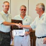 Left, Bob Shumate, Dave Reilly and Desert Duffer President Frank Hewitt