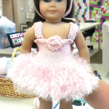 Ballerina outfit knitted by Linda Kaas.