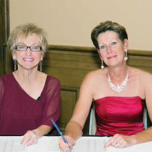 Pictured left to right are Food and Beverage Chair Mary Lou Johnson and Membership Chair Justine Lewis.