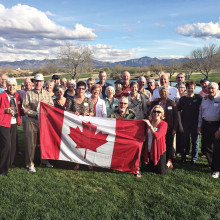 Over 30 members of The Canadian Club at Quail Creek recently held and enthusiastically enjoyed their second Happy Hour Meet and Greet on the Patio of the Grill in late February.