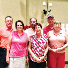 There was a three way tie for first place in the A flight: Art and Karen Conner, Sheldon and Patti Zatkin, Jim and Jan Topolski.
