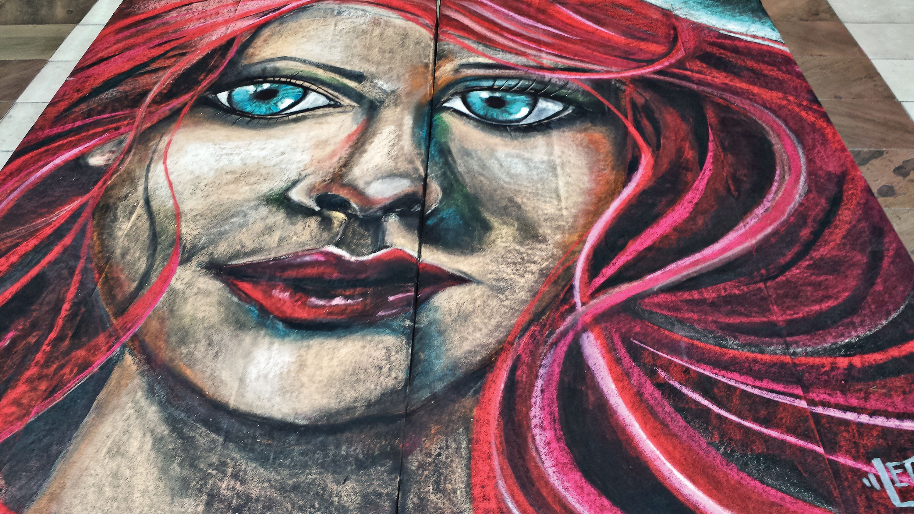 Third Place: Bob Johnson - Girl With The Flaming Red Hair