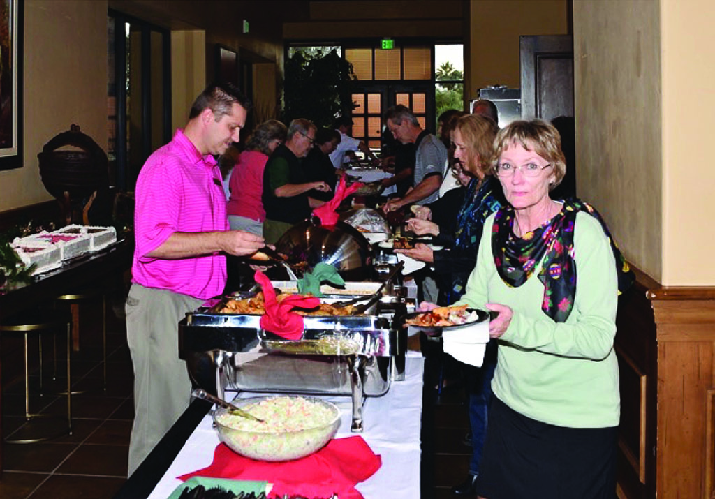 Quail Creek employees enjoy dinner at the 2014 Employee Appreciation Event. Make your contribution so that this year's event will be even better!