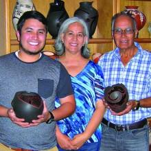 Left to right: Moroni Talavera, Lydia Quezada and Rito Talavera (husband); location: Vicki and Ron Sullivan's Quail Creek home; April 2015