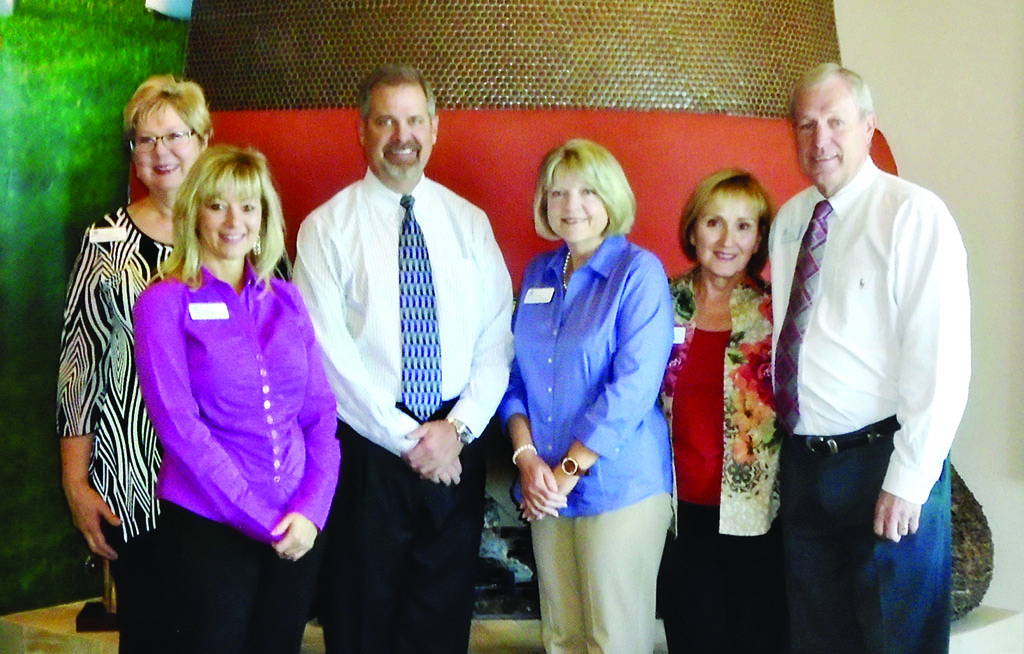 From right to left: Paul Culver, Mary Fix, Kimberly Nichols, J.R. Brannon, Shirley Hallett and Ann Lessard.