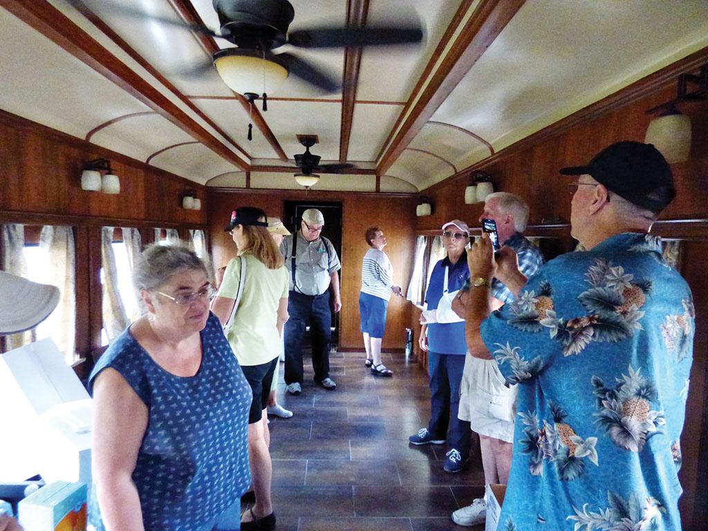 Vintage Pullman railcar at Port of Tucson