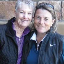 Flight One winners Bonny Wilcox and Sandra Lawrence