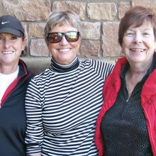 Flight Three winners: Karen Conner, third; Dianne Turner, first; and Gail Phillips, second