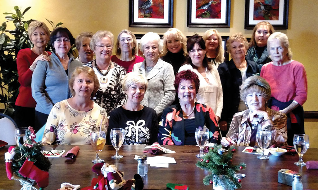 Left to right, front row: Chris Graham, Joyce Walton, Brenda Rock, Susan Pace; second row: Cathy Goodrich, Roxie Boehne, Kathleen McLaughlin, Ann Marie, Wanda Davis, Linda Casady; third row: Judy Madison, Cheryl Gates, Janet Koury, Rhonda Baker, Jacquie Mac Pherson, Ann Gertz
