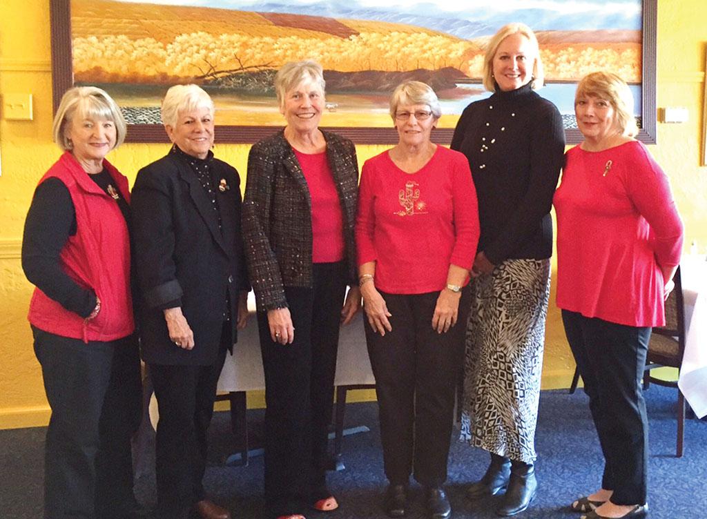 Left to right: Pat Crane, Joyce Barnes, Polly Boley, Crystal Wolfe, Julianne Haupt and Mary Kaprowski