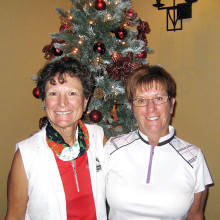 Flight 1 first place winners: Nancy Quesenberry and Mary Campbell-Jones