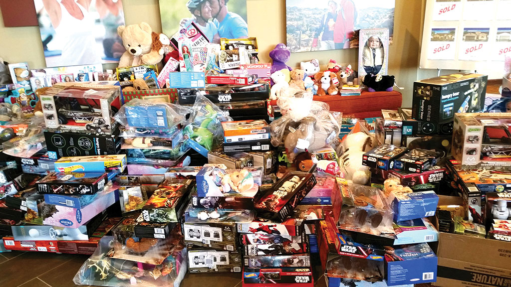 Just some of the toys residents contributed helped make a more joyous holiday for local needy children; photo by Peggy McGee