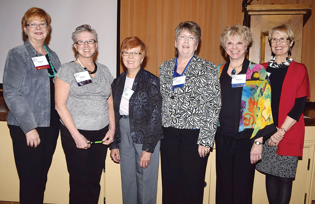 2016 TWOQC Board members (left to right): Diane Quinn, Patti Giannasi, Peggy McGee, Carol Mutter, Nancy Wilson and Janice Pell; missing, Sue Ann Obremski