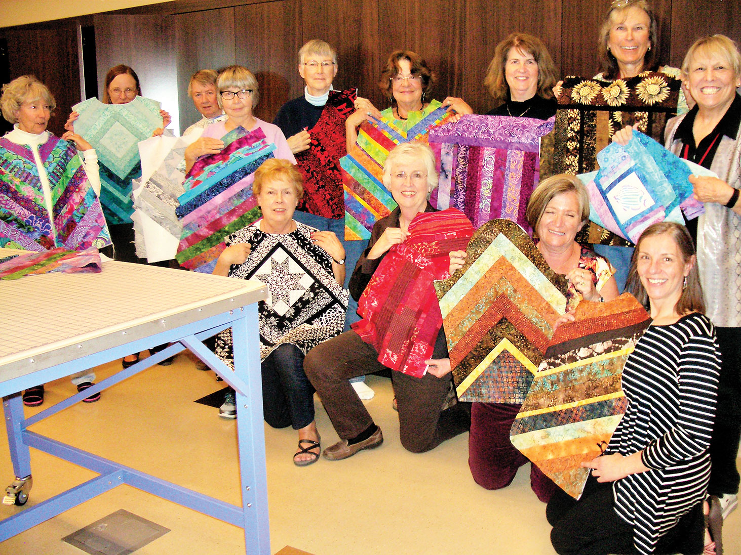 Back row, left to right: Kay Burrows, Sharon Krueger, Marjorie Mitchell (hidden), Liz Knaff, Paula Sween, Sharon Frank, Colleen Curran, Maryellen Mencimer and Sue Norris; front row: Carol Bisio, Pam Smith, Rosie Epler and Janice Roy