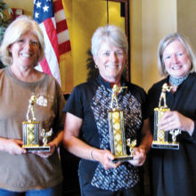 Top women shooters, left to right: Lori Klug, JoAnne Pollock and Susan Wilson