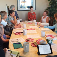 Nurses Group meets to discuss the medical points on a book study of Being Mortal by Atul Gawande.