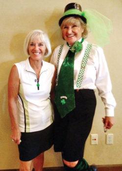 New Club Champion Cheri Sipe with President Sharon Pazson.