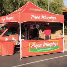 Quail Creek Sports Run sponsor, Papa Murphy's Pizza, provided freshly-baked pizza.