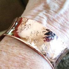 Steve Piepmeier's Native American design copper bracelet