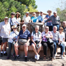 Mike Turner: PCQC members posed at the La Fuente fountain.