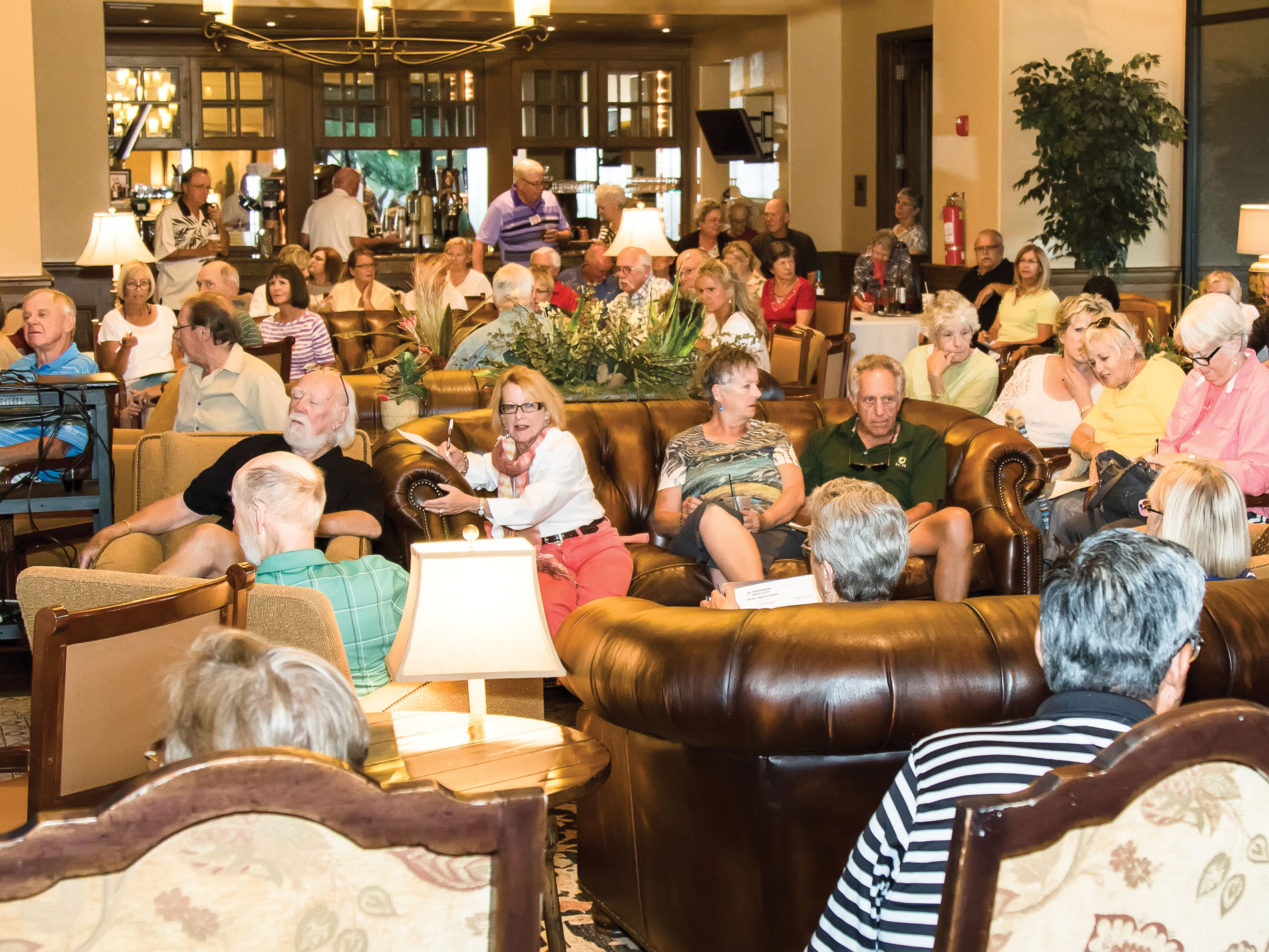 More than 90 PAG supporters filled the Madera Clubhouse on Musical Trivia Night; photo by Jeff Krueger