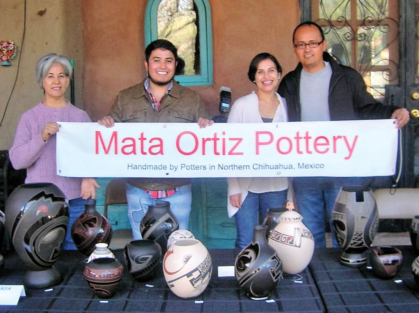 Lydia Quezada, Moroni Quezada, Pabla Quezada and Julio Michel; photo by Ron Sullivan