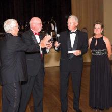 Ballroom Dance Club members: Tom Sullivan, Phil Geddes, Robert Lewis and Justine Lewis; photo by Ken Haley