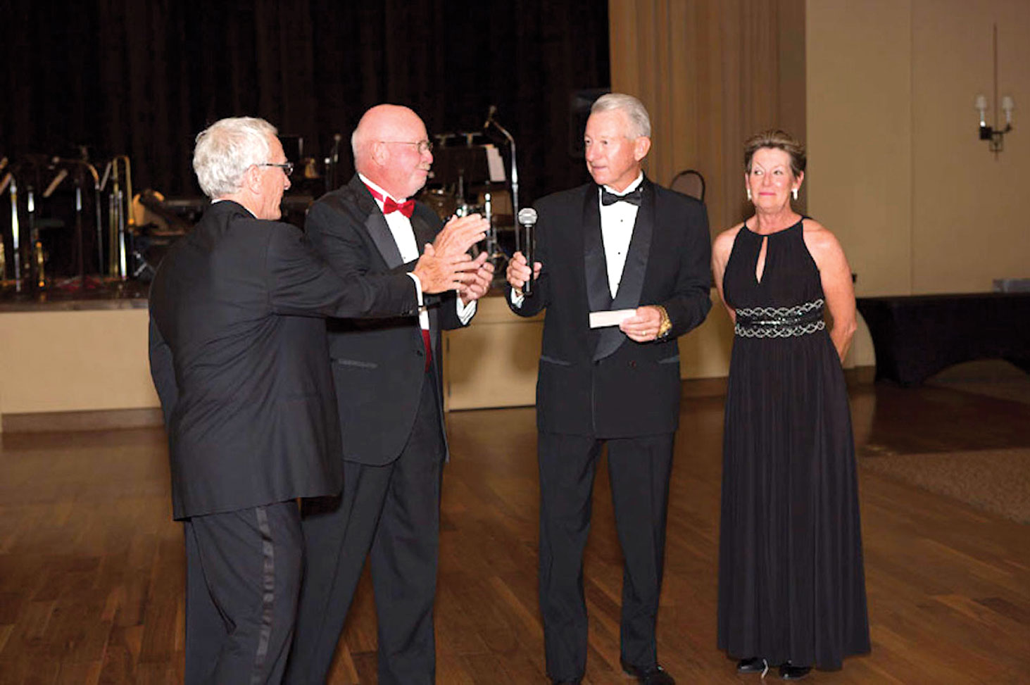 Ballroom Dance Club members: Tom Sullivan, Phil Geddes, Robert Lewis and Justine Lewis; photo by Ken Haley