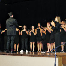 Walden Grove Women's Chorale performing during the monthly program; photo by Diane Quinn