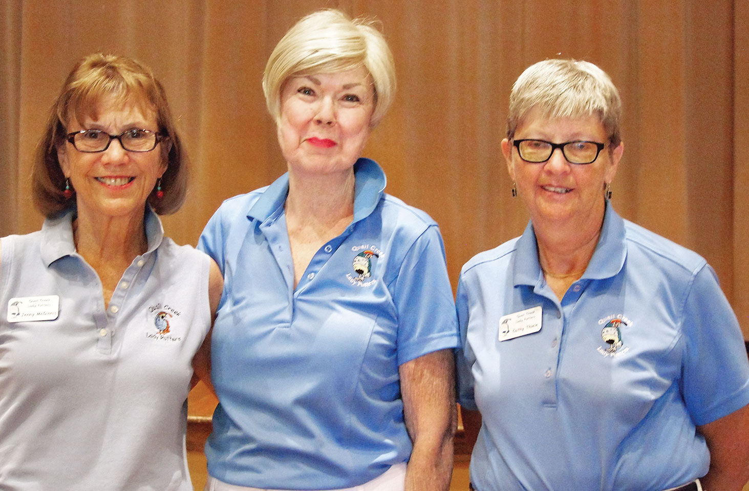Left to right: Hole-in-one winners were Jenny McGinnis, Joyce Walton and Cathy Thiele; photo by Sylvia Butler