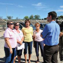 KOLD-TV reporter Craig Reck interviewing TWOQC volunteers; photo by Diane Quinn