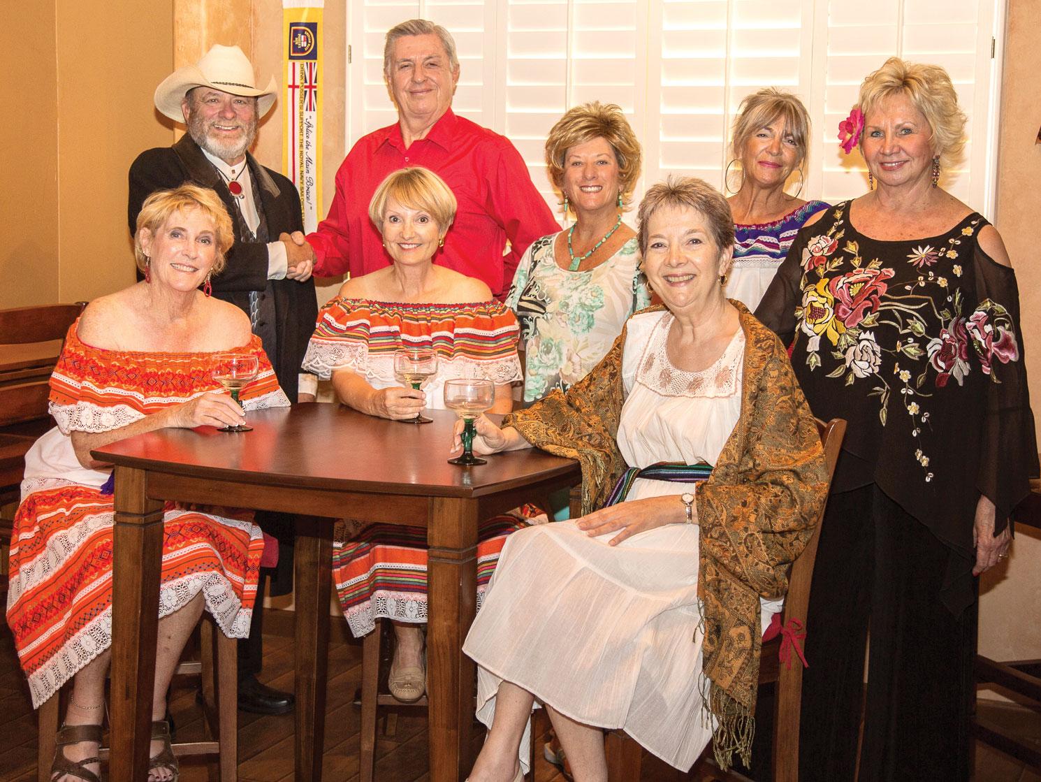 Jalapeno cast, seated: Sandi Hrovatin, Pam Campbell, Christine Bohannon; standing: Ray Hebert, Davey Jones, Mary Campbell-Jones, Claudia Andrews, Cyndy Gierada; photograph courtesy of Jeff Krueger
