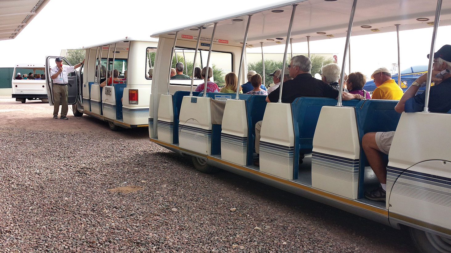 Special docent tram tour with Dennis McCann, Quail Creek resident
