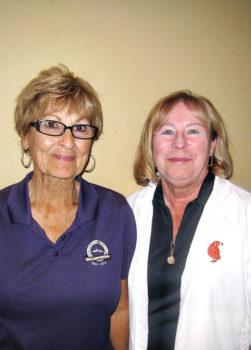 Quail Creek flight two winners Carol Hocking, Pat Tillapaugh; not pictured first place winner Amy Carmien