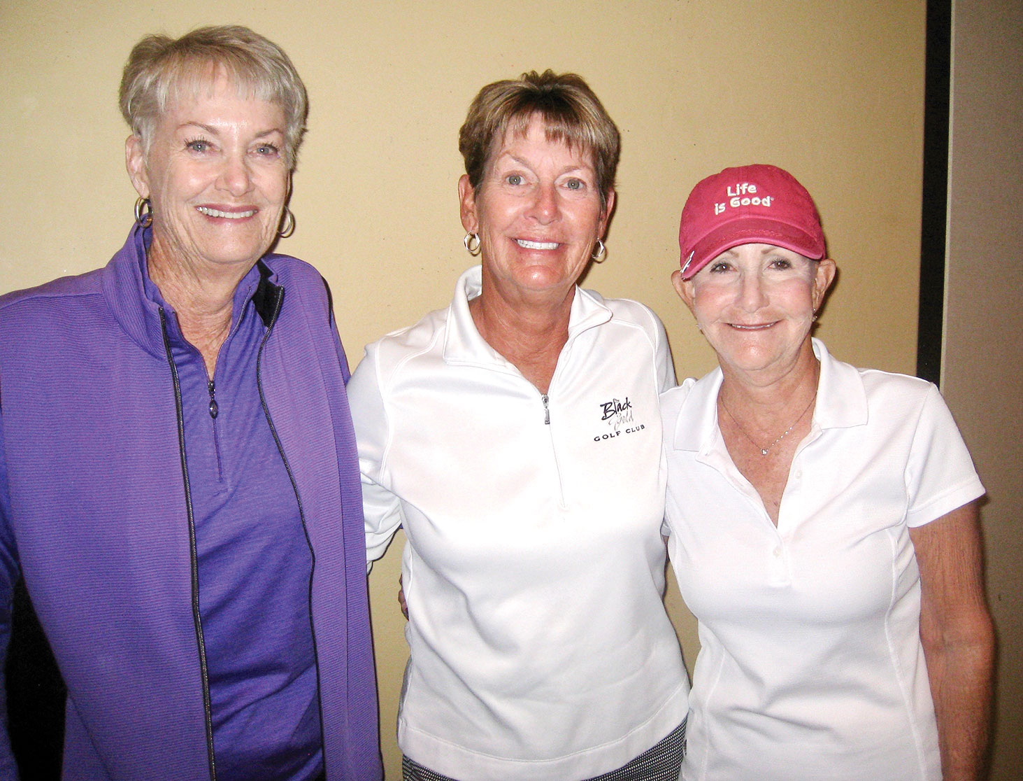 Quail Creek flight one winners Bonny Wilcox, Justine Lewis and Kathy Brennan