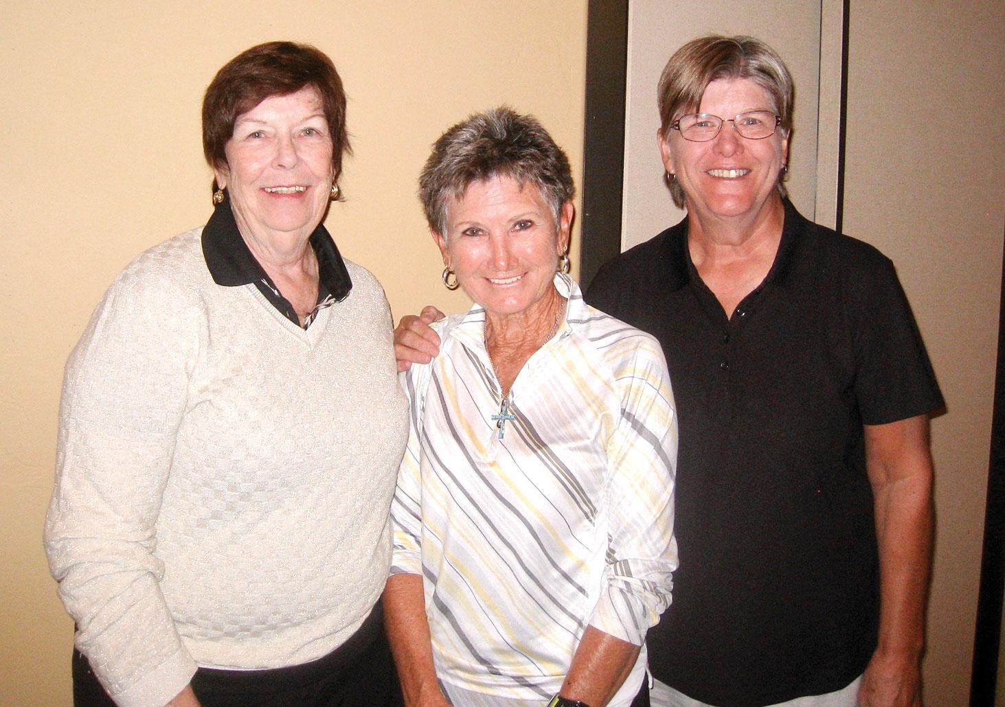 Quail Creek flight three winners Gail Philips, Chris England and Bonnie Anderson
