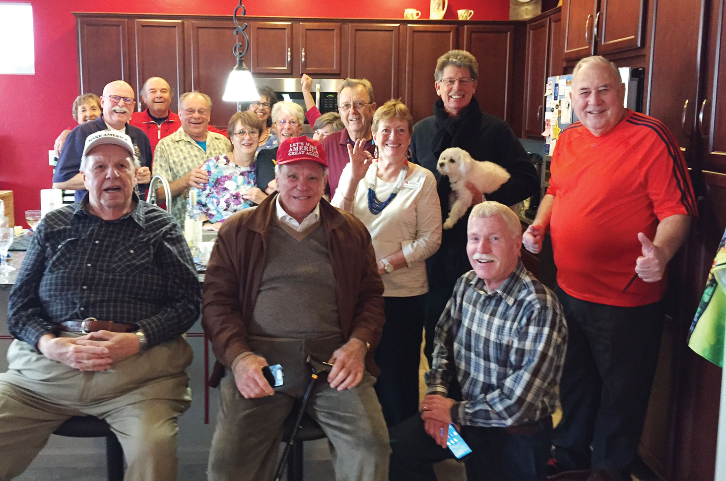 Inauguration party with most of the invited Quail Creek homeowners including a guest appearance by Mr. Ed Robson at 538 Easter Lily Lane. He made our day!