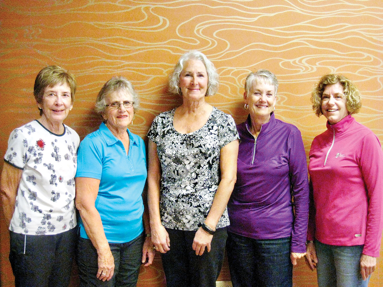 The Quail Creek Ladies Golf Association announces its new board. Left to right: Lynda Detman, Joann Salazar, Chris Gould, Bonny Wilcox and Paula Scafuri