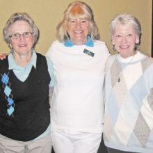 D Flight winners Joann Salazar, Sharon Paxson, Carol Jackson