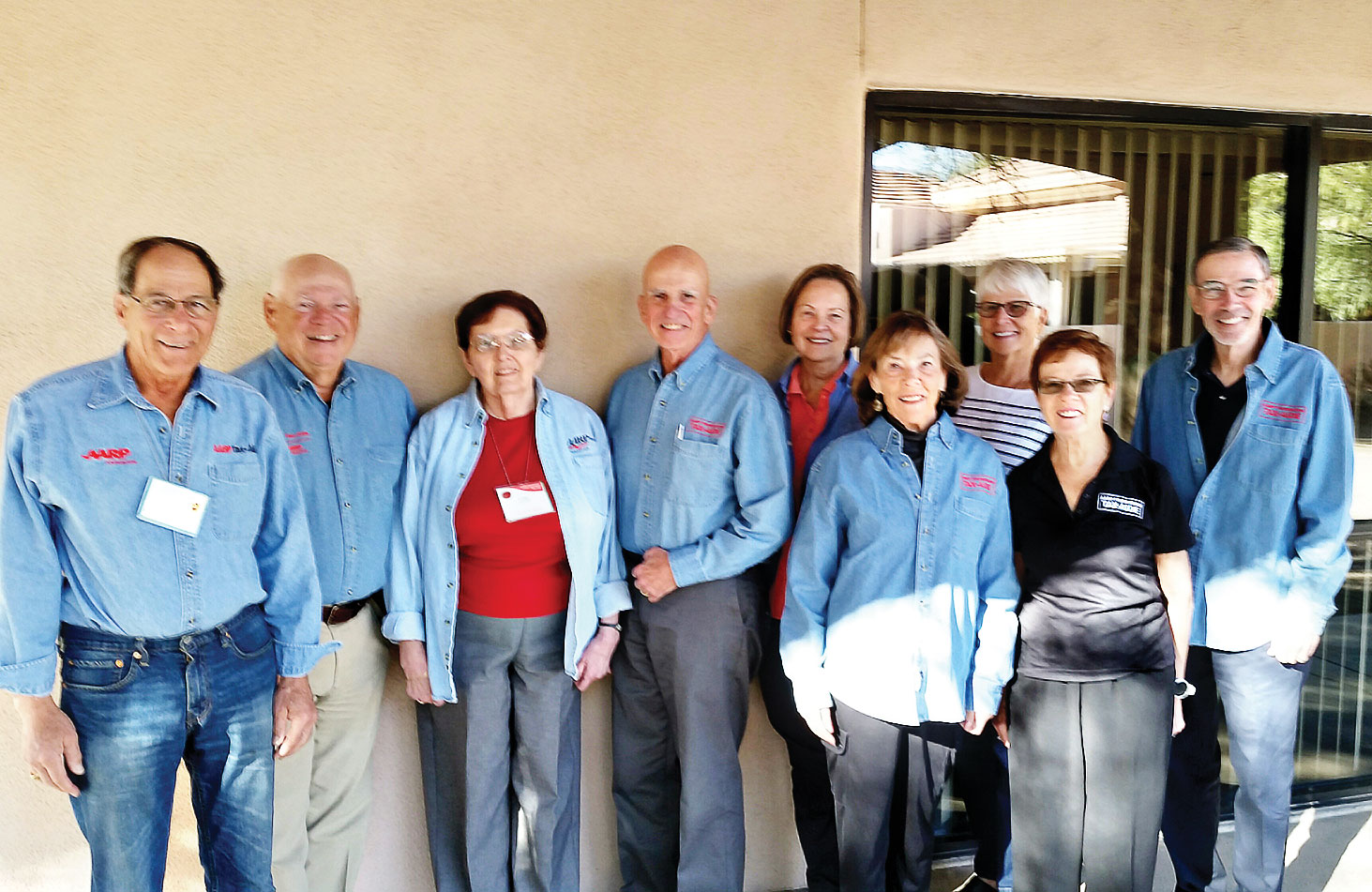 Quail Creek residents who volunteer their time at the AARP sites include: front row (from left) Gail Garrison and Peggy McGee; back row Al Miller, Craig Parsons, Lori Whitman, John Kozma, Diana Averill, Anne Benton and Tom Schlitt. The photo was taken by Jeff Smith.