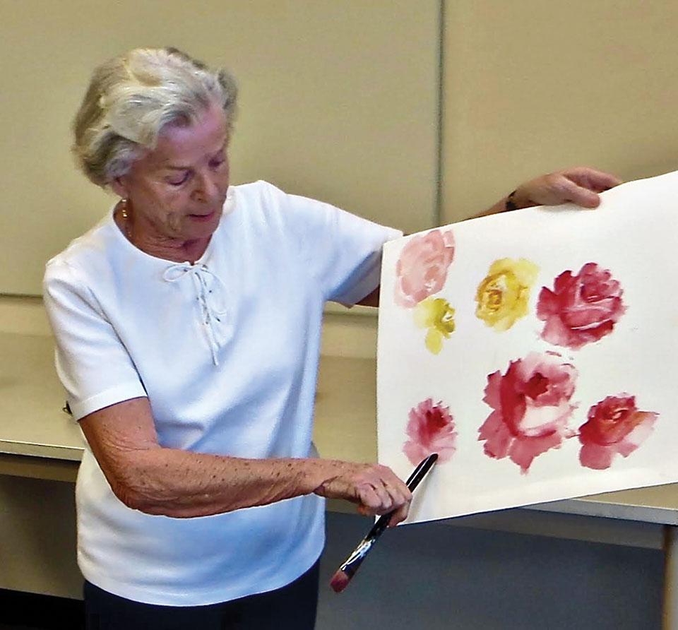 Joyce Finn enjoys painting desert landscapes and wildlife.