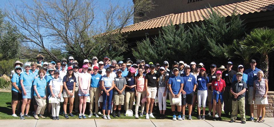 Junior Golf Tournament participants