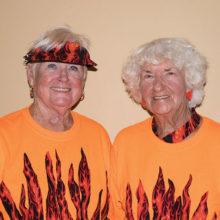 Flight 5 Low Gross winners Carolyn McBride and Wanda Myers