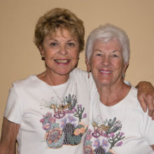 Flight 4 Low Gross winners Jane Fournier and Darthea Tilly