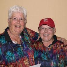 Flight 3 Low Net winners Francie Walker and Kathy Cline