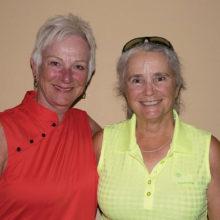 Flight 1 Low Net winners Gail Fitzsimmons and Peg Avent