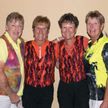 Overall Low Gross and Low Net winners: Alberta Teale, Mary Campbell-Jones, Nancy Quesenberry and Justine Lewis