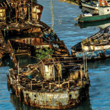 Pete Murphy won first place with his photo Sunken Ship.
