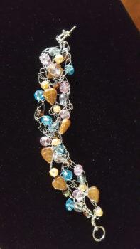 Nancy Riordon's wire crochet bracelet