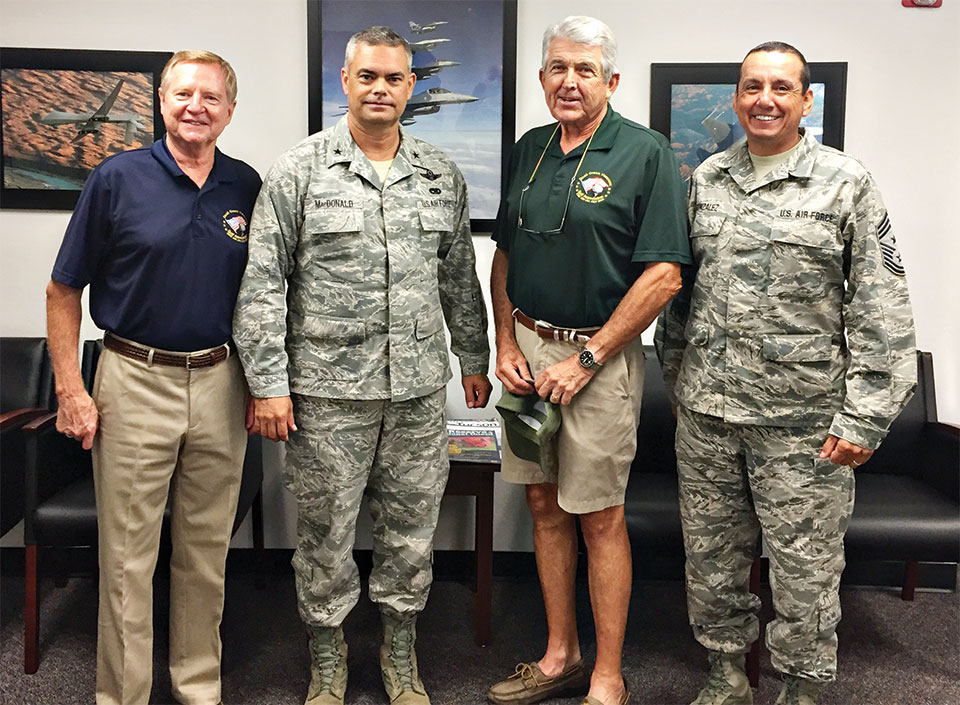 VGA President Tom Haberer, Brigadier General MacDonald, VGA Charity Chair David Ray and Chief Master Sergeant Gonzales